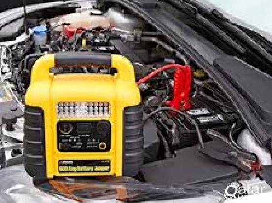 Automobile/car battery charge-change doha 50001241 Mobile van service