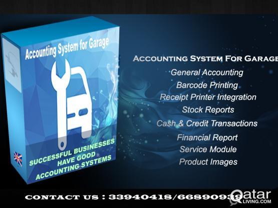 Accounting system for garage  برنامج محاسب