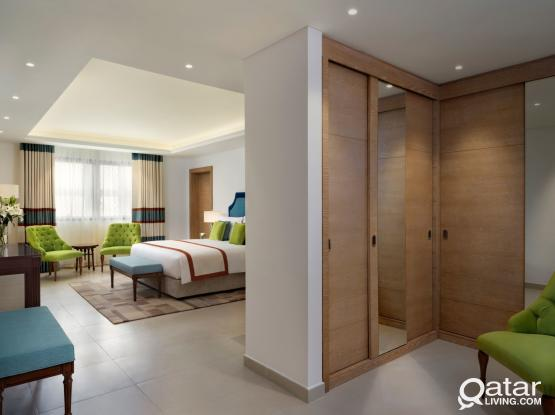 Spacious & Brand-New Deluxe 1 Bedroom Hotel Apartment