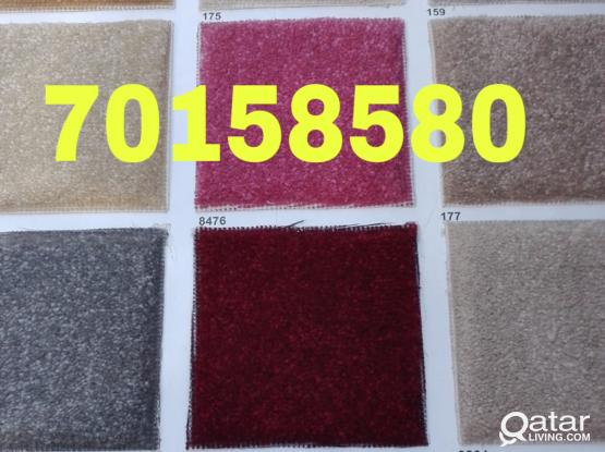 We are selling all type carpet and plastic with fixing in house please call me- 70158580