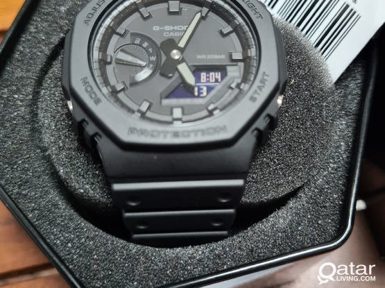 New, casio G shock watch GA-2100-1A1 Carbon guard