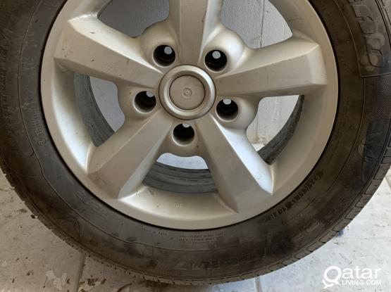 4 new tires with rims
