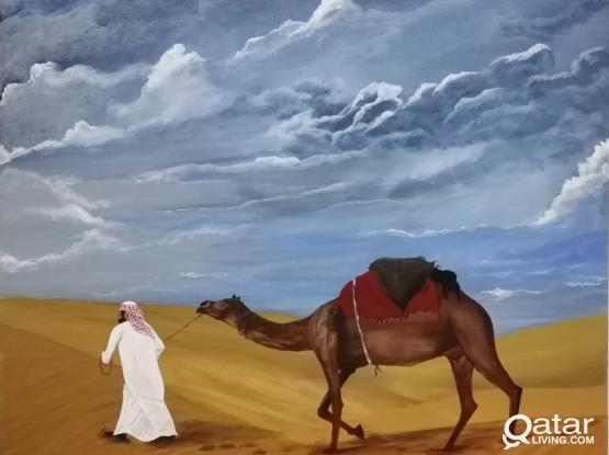CAMEL -  Acrylic painting