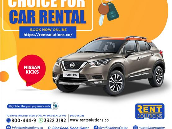 Nissan Kicks Daily - 160 QR Monthly - 2400 QR
