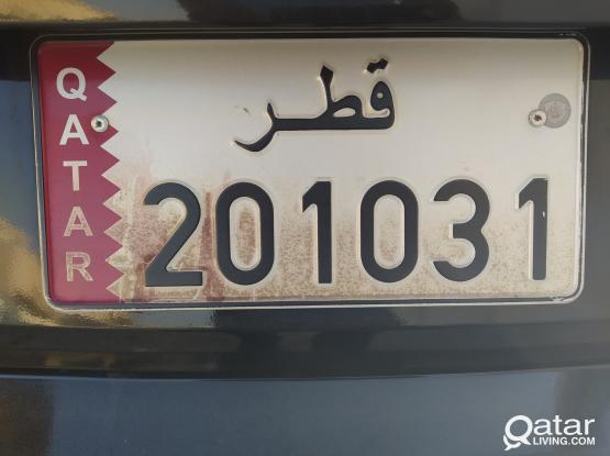 201031 CAR PLATE NUMBER FOR SALE......