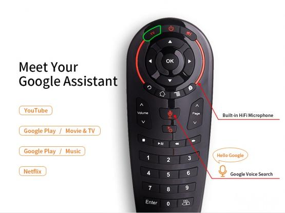 G30S Voice Control Air Mouse universal Remote control 34 keys IR learning Gyro Sensing Wireless Smar