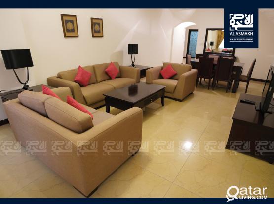 Furnished 2-Bedroom Apt for rent in Al Sadd