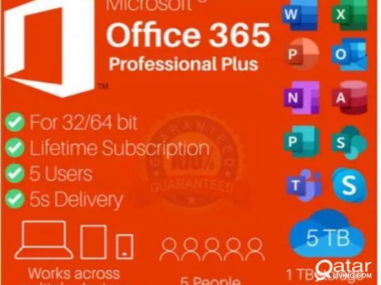 MICROSOFT Office 365 Pro Plus 2019 Lifetime Account for Windows PC & MAC + 5TB Cloud✅
