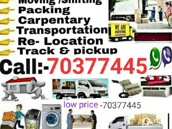 All kind of shifting and moving services. Please call us 70377445
