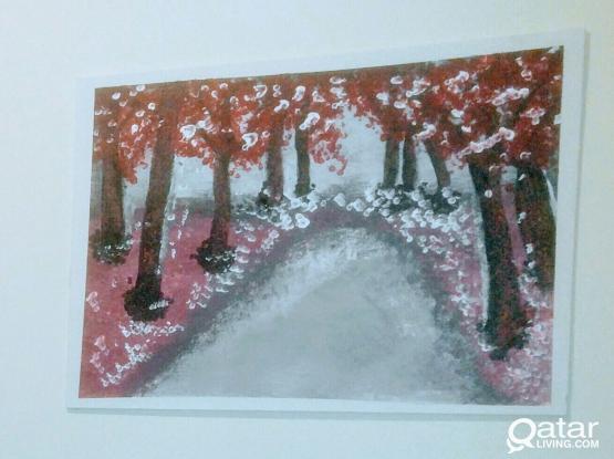 Hand made acrylic paintings