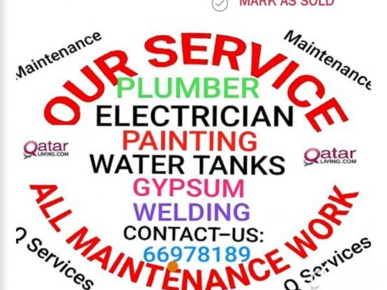 ELECTRICIAN, PLUMBING, GYPSUM, PARTITION, CALL 66978189  All MAINTENANCE WORK painting, waterproof, Plumber, Electric all work