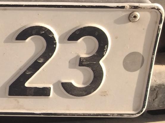 Fancy Number  23 91 23