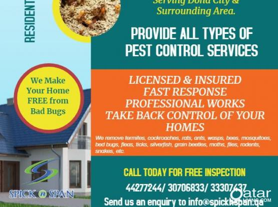 PEST CONTROL AND DISINFECTION SERVICES BEST PRICE
