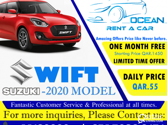 BRAND NEW CAR AVAILABLE FOR RENT ! LIMITED TIME OFFER ! CONTACT US: 50399151/44182020/31696859