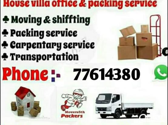Moving & Shifting all over qatar. 24 Hour service. Please call 77614380