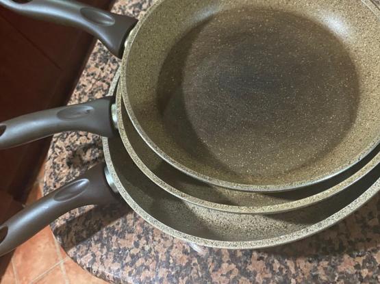 Used Cooking Pans Set 3 Pcs