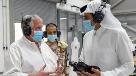 WATCH: HH the Amir inspects production of ventilators at Barzan Holding Company