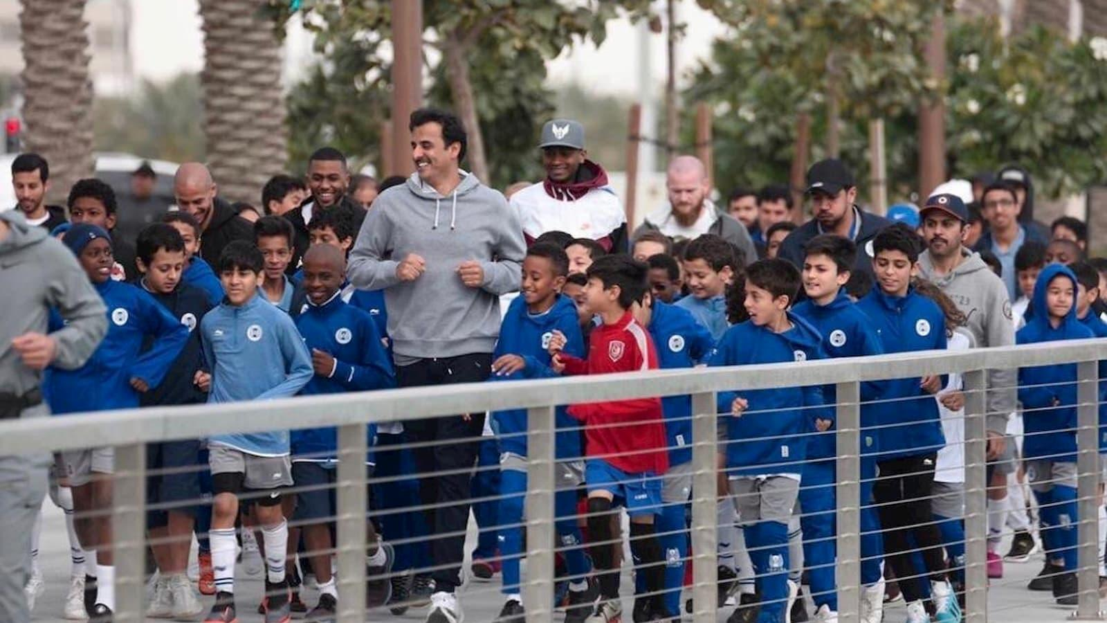 WATCH: HH the Amir takes part in National Sport Day activities