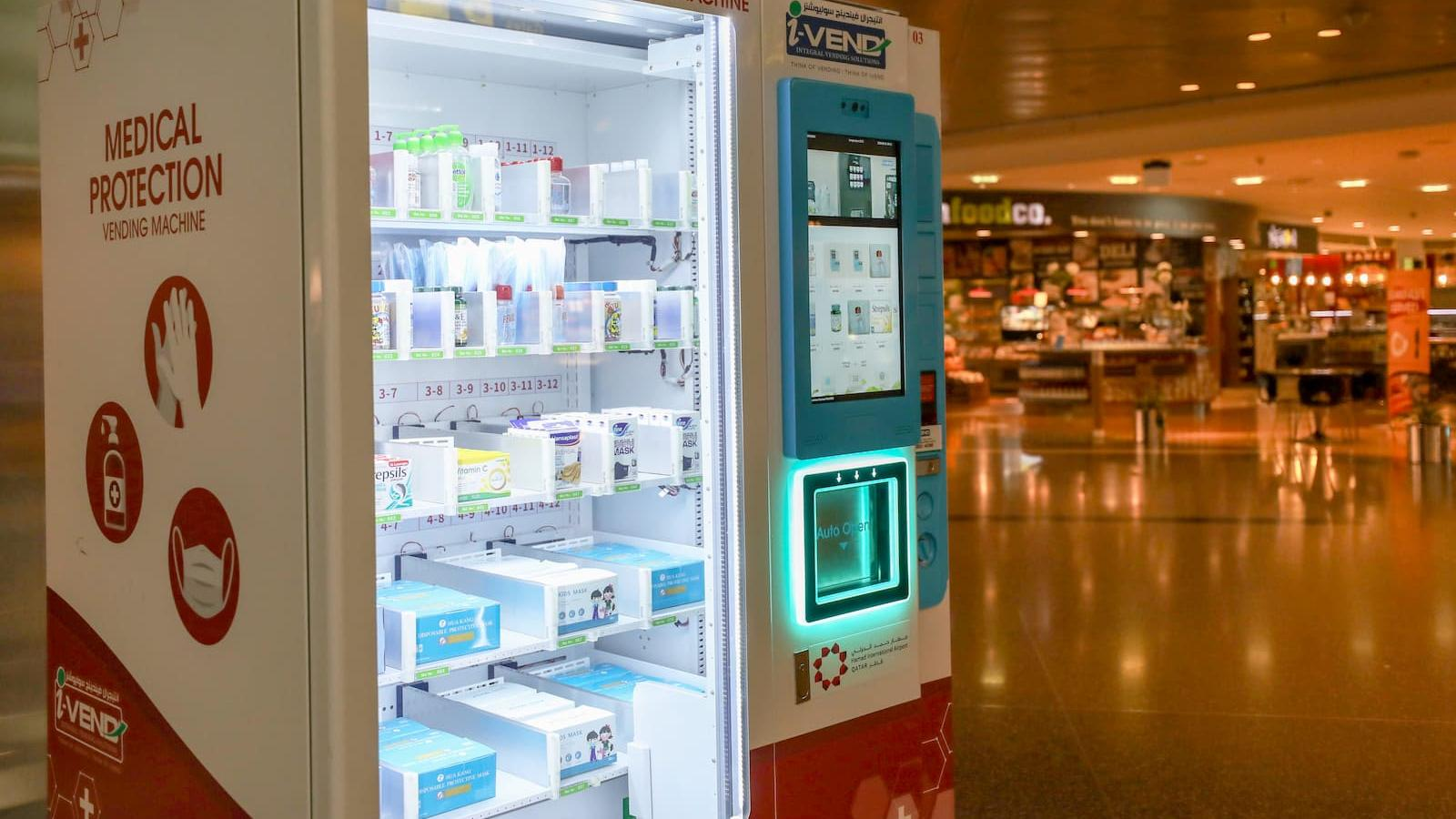 HIA installs vending machines with PPE including face masks and sanitizers