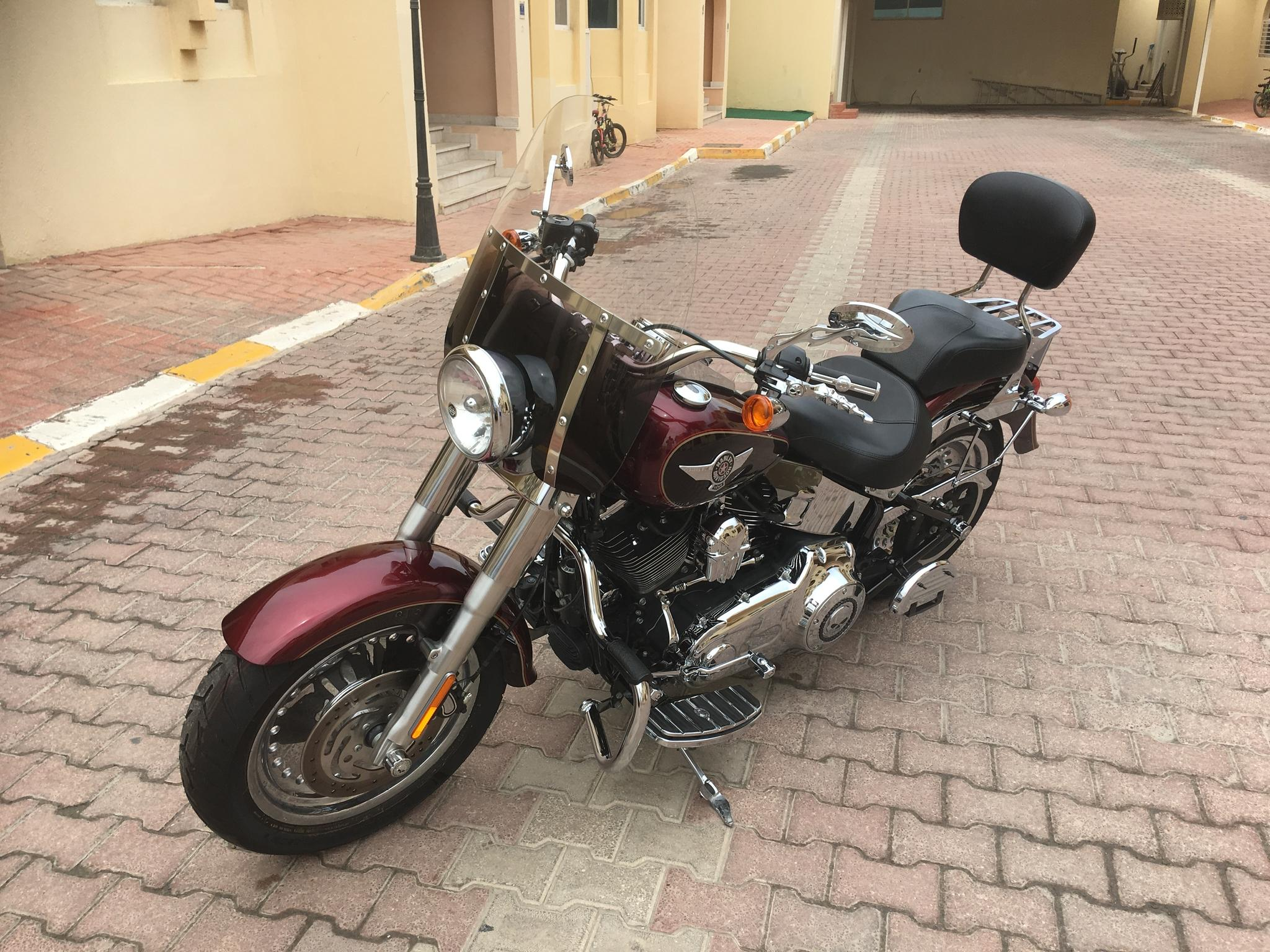 Fully equipped Harley Fat Boy in perfect condition