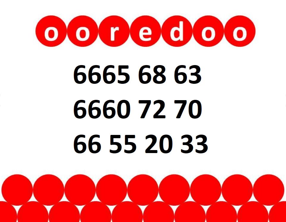 VIP OOREDOO Numbers