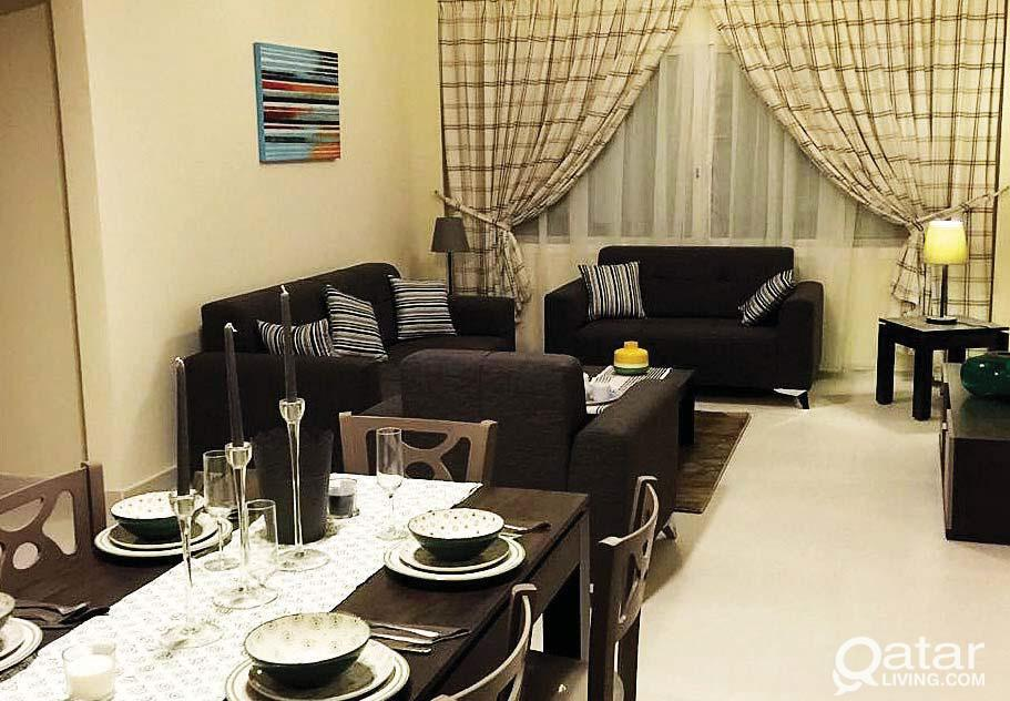 FURNISHED 2 BED SPACIOUS APART ( NO COMMISSION)