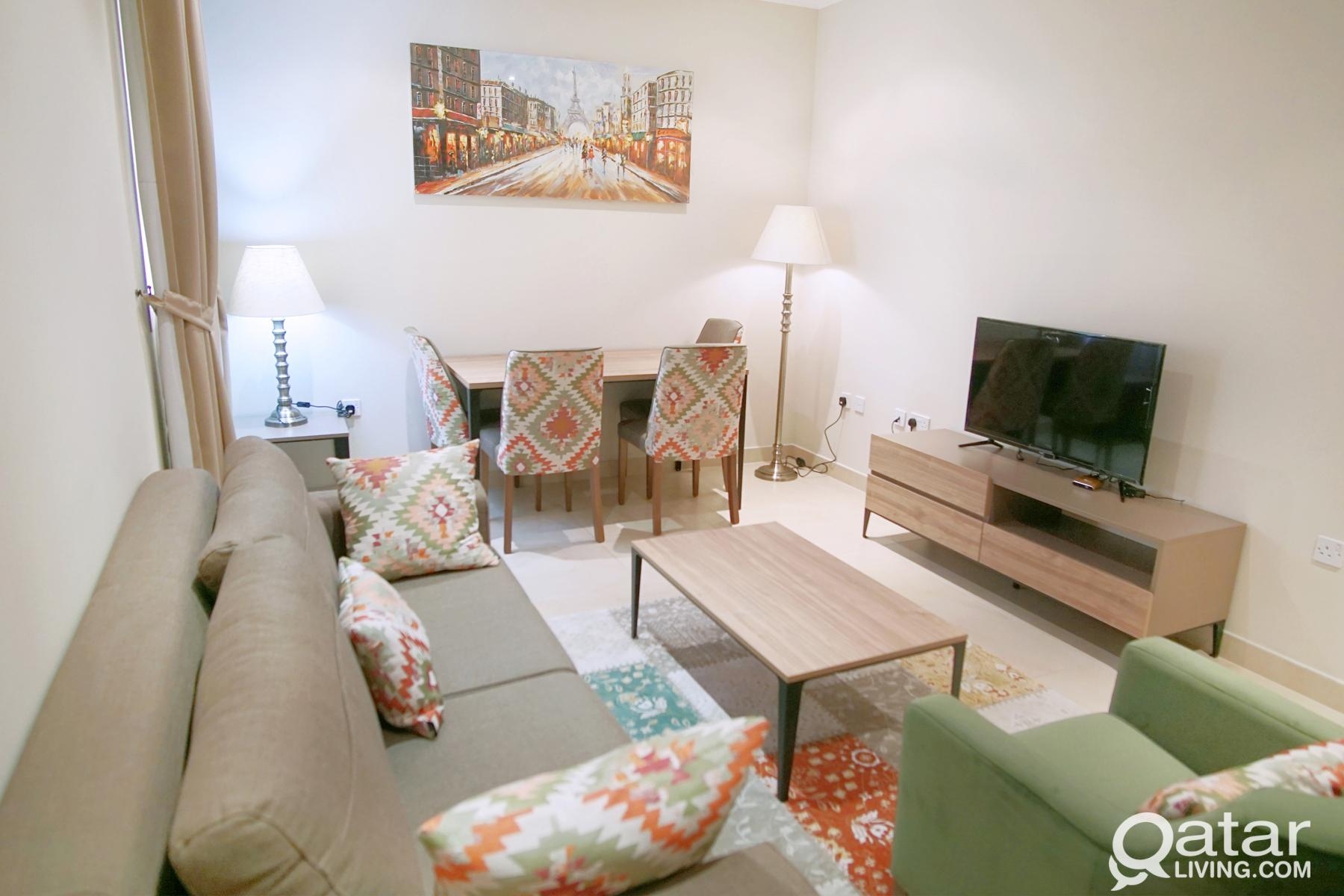 Stunning 1BHK (FF) in Doha - all utilities include