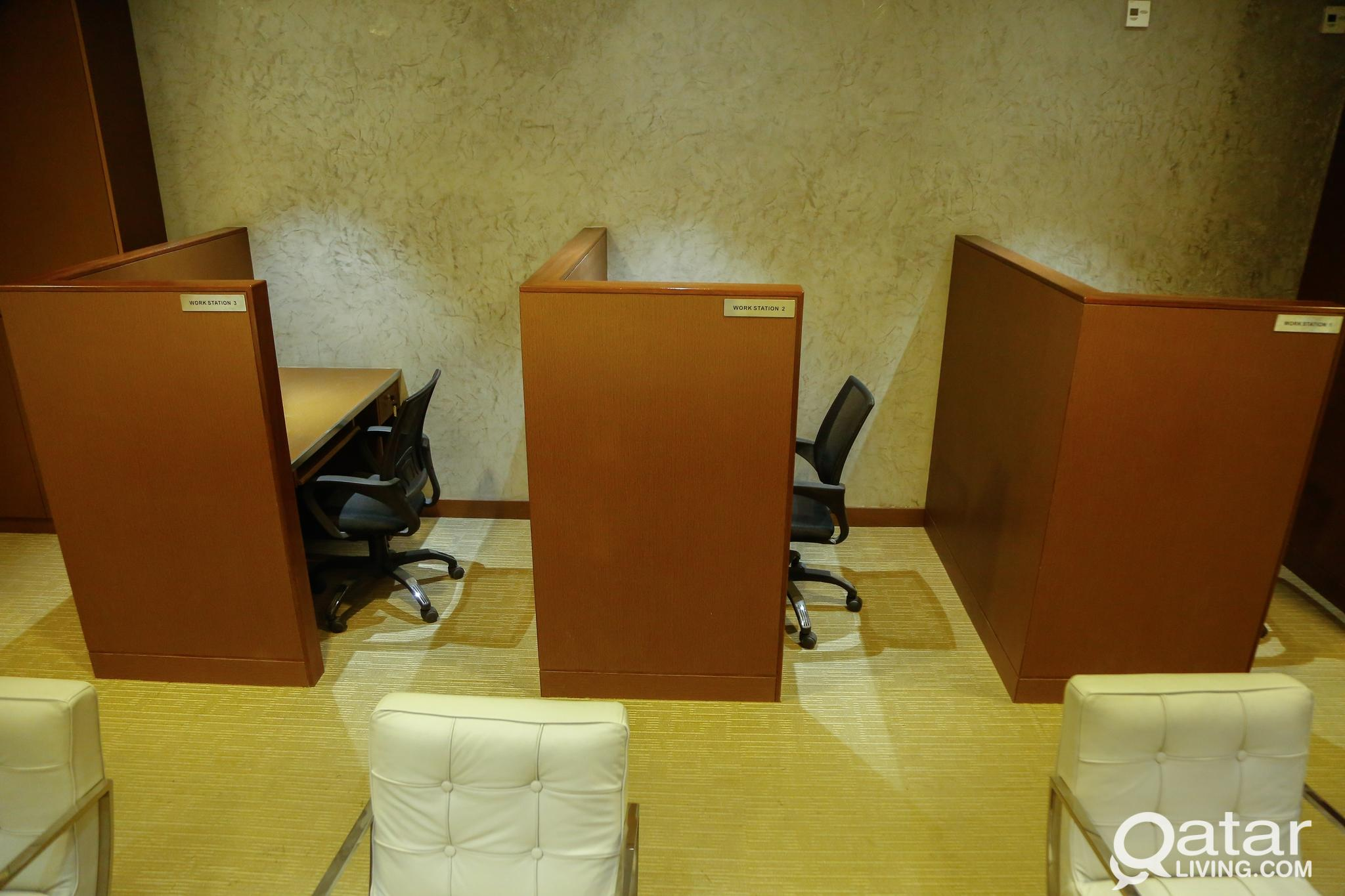 WORKSTATIONS AVAILABLE IN BUSINESS CENTER