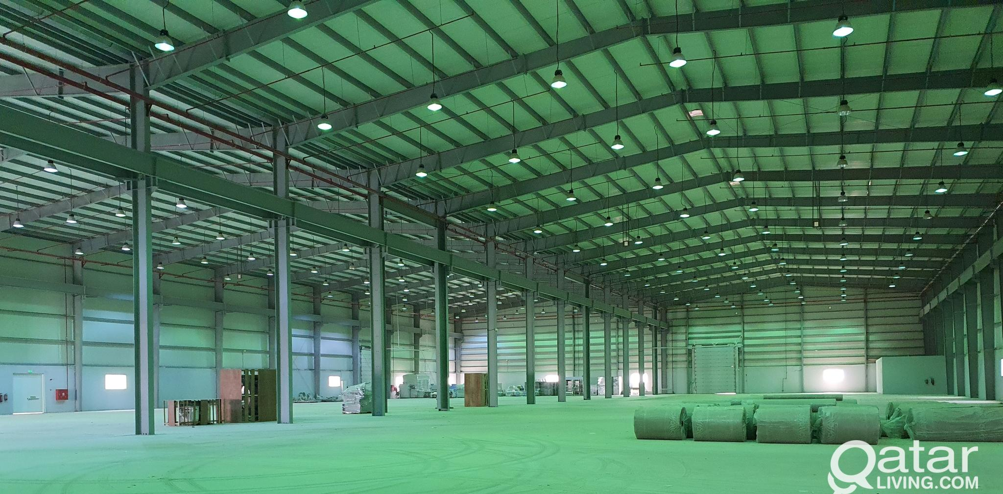 8000 SQM Warehouse for rent with factory license